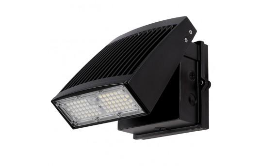 55W Slim LED Wall Pack - 6,300 Lumens - Aimable/Full Cutoff - 250W Metal Halide Equivalent - 4000K - SWP-x55