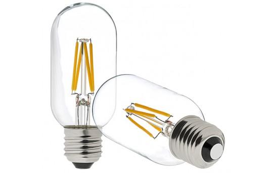 T14 LED Filament Bulb - 40 Watt Equivalent Vintage Light Bulb - Radio Style - Dimmable - 350 Lumens - T14D-x4DF