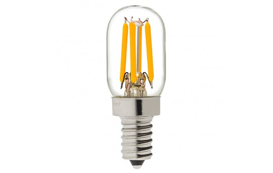 T22 LED Filament Bulb - 20 Watt Equivalent Candelabra LED Vintage Light Bulb - Radio Style - Dimmable - 170 Lumens - T22D-x2DF-E12