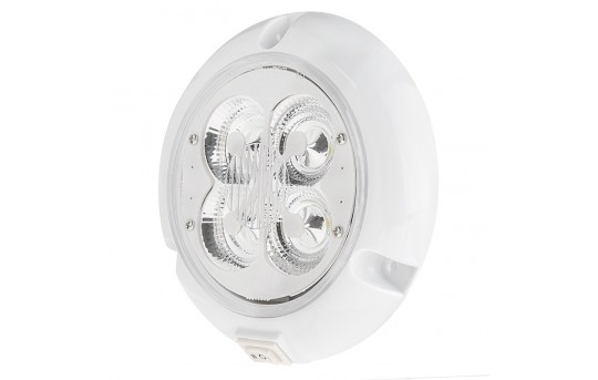 Round Dome Light LED Fixture with Rocker Switch - TDL-xW4