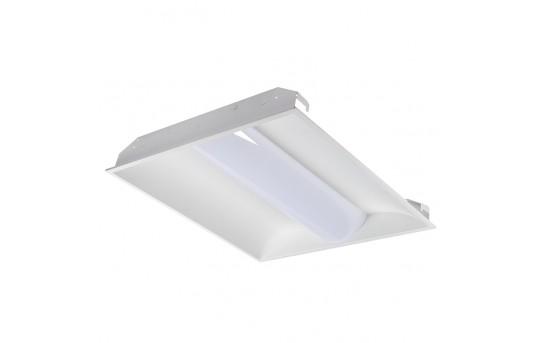 40W Recessed LED Troffer Light w/ Center Basket - 2x2 - 5,200 Lumens - 4000K - Dimmable - TLFA-40K22-40