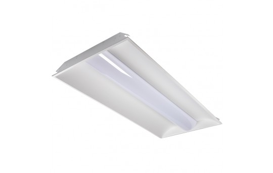 50W Recessed LED Troffer Light w/ Center Basket - 2x4 - 6,500 Lumens - 4000K - Dimmable - TLFA-40K24-50