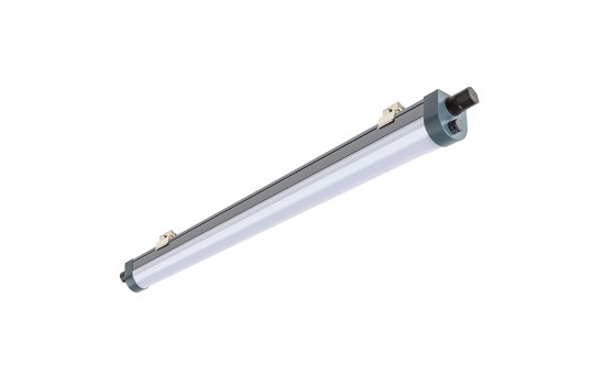 80W Linkable Linear LED Strip Light Fixture - Industrial LED Light - 5' Long - 7,500 Lumens - 4000K - TPTF-x5-80-MB1