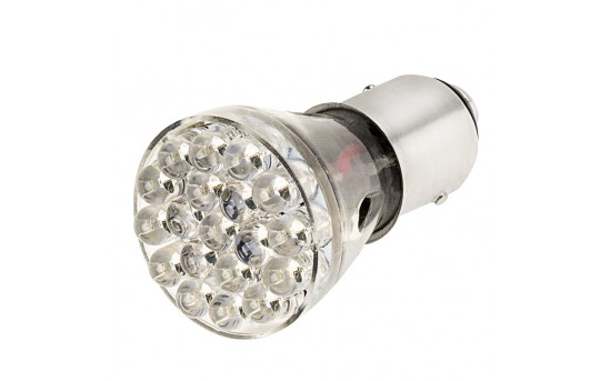 1157 LED Bulb - Dual Function 25 LED Motorcycle Bulb - 1157-R19W6