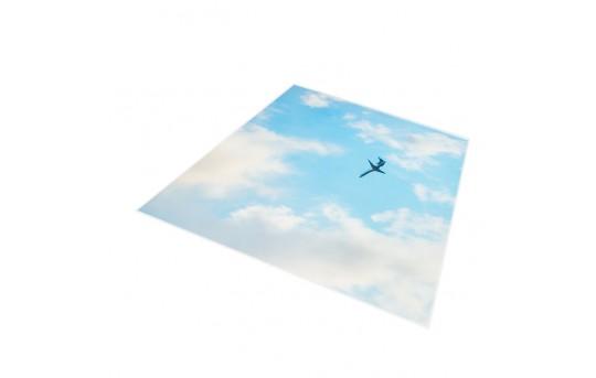 Skylens® Fluorescent Light Diffuser - Jet Set Decorative Light Cover - 2' x 2' - TRD-C3-22