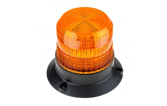 "4-3/4"" Amber LED Strobe Light Beacon with 24 LEDs - STB-A45-V2"