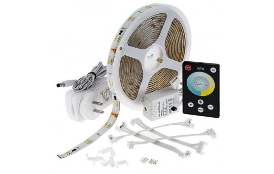 Outdoor Tunable White LED Strip Light Kit - Color Temperature Changing 12V LED Tape Light - Weatherproof - 65 Lumens/ft. - WFLSK-DW300-VCT