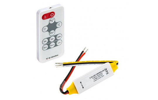 Tunable White LED Controller w/ Wireless RF Remote - 7 Amps/Channel - MCBRF-VCT7