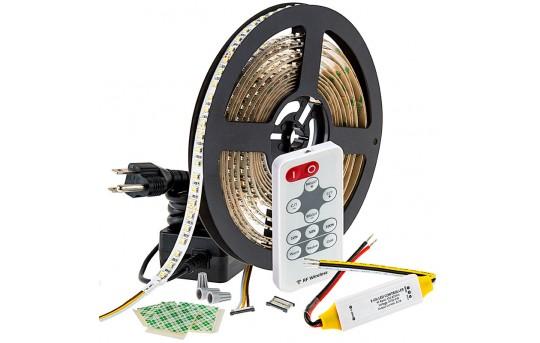 Tunable White LED Strip Light Kit - Color Temperature Changing 24V LED Tape Light - 366 Lumens/ft. - NFLSK-DW600-VCT