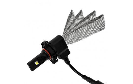 Motorcycle LED Headlight Conversion Kit - PSX24W LED Headlight Bulb Conversion Kit with Flexible Tinned Copper Braid - PSX24W-HLV3-M
