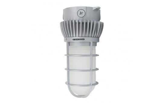 20W Vapor Tight LED Jelly Jar Light Fixture - Caged Ceiling Mount Light - 50W MH Equivalent - 1,800 Lumens - 4000K - VTCJ-x20