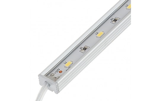 Waterproof Linear LED Light Bar Fixture w/ DC Barrel Connectors - 675 Lumens - WLFA2-xW15SMD