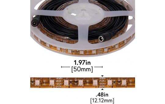 Outdoor LED Strip Lights - Pink 12V LED Tape Light w/ Plug and Play Connectors - Weatherproof - 25 Lumens/ft. - WFLS-Mx