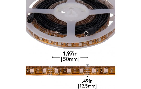 Outdoor LED Strip Lights - Pink 12V LED Tape Light w/ Plug and Play Connectors - Weatherproof - 25 Lumens/ft. - WFLS-Mx