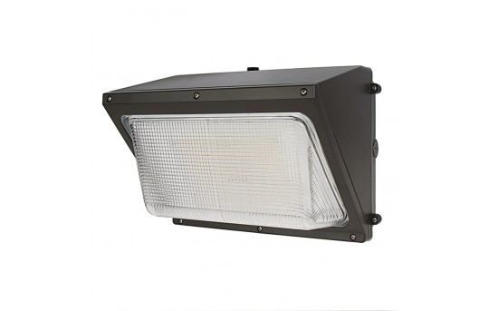 40W LED Wall Pack with Photocell - 6,000 Lumens - Glass Lens - 250W Metal Halide Equivalent - 5000K/4000K - WPDG-xK40P-Sx