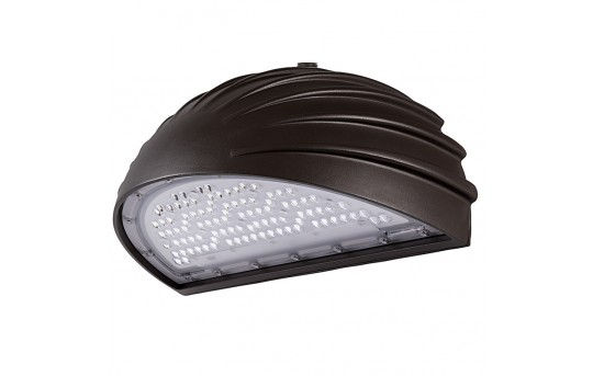 45W Architectural Quarter-Sphere LED Wall Pack with Photocell - 5300 Lumens - Full Cutoff - 250W Metal Halide Equivalent - 5000K/4000K - WPAFC-xK45-Sx
