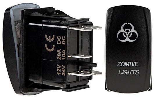 Weatherproof LED Rocker Switch - Zombie Lights Switch - RS-13