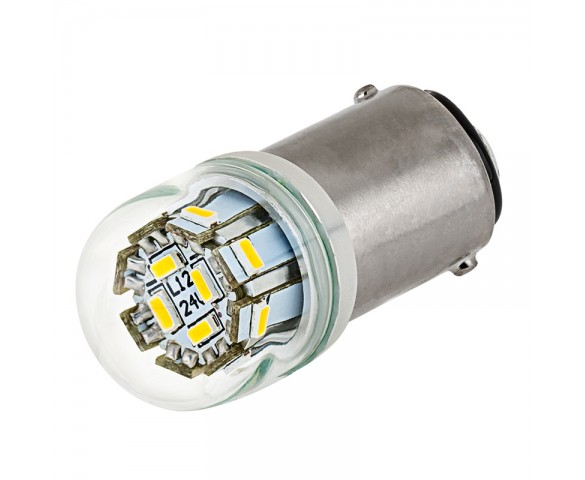 1142 LED Bulb w/ Stock Cover - 12 SMD LED - BA15D Retrofit