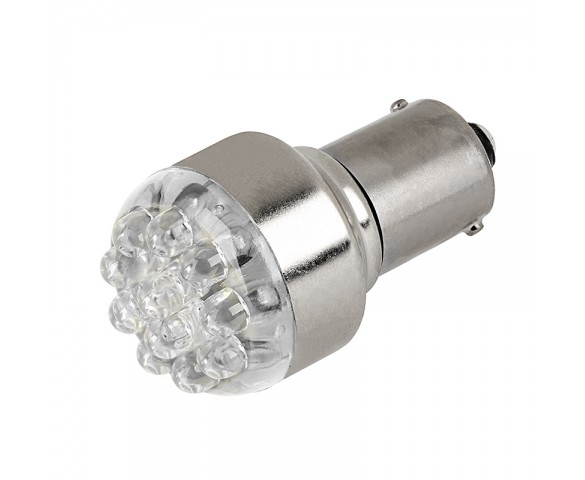 1156 LED Bulb - 12 LED Forward Firing Cluster - BA15S Retrofit