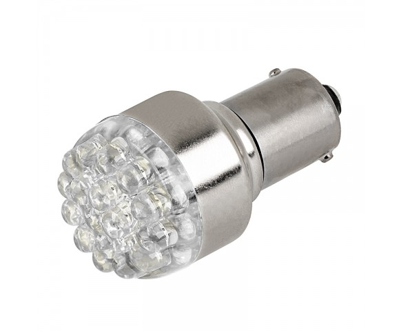 1156 LED Bulb - 19 LED Forward Firing Cluster - 6V and 24V DC