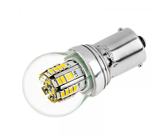 1156 LED Bulb w/ Stock Cover - 36 SMD LED Tower - BA15S Retrofit