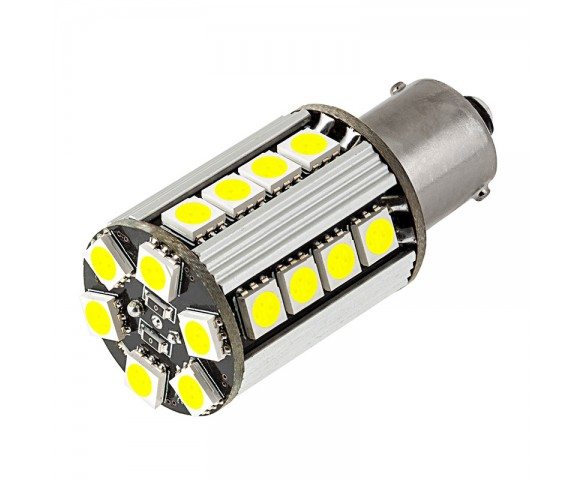 1156 CAN Bus LED Bulb - 26 SMD LED Tower - BA15S Retrofit