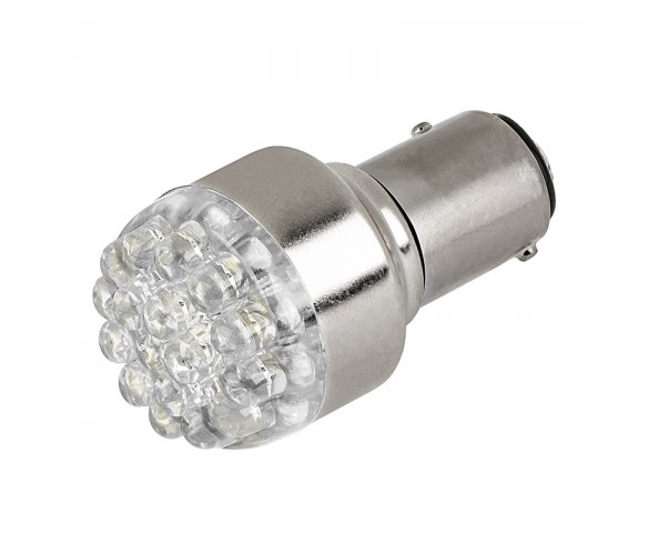 1157 LED Bulb - Dual Function 19 LED Forward Firing Cluster - BAY15D Retrofit