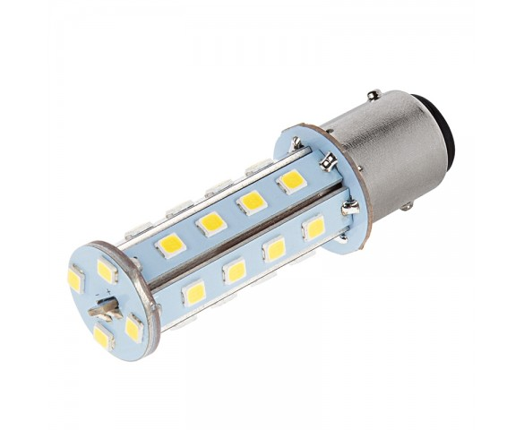 1157 LED Boat and RV Light Bulb - Dual Function 28 SMD LED Tower - BAY15D Retrofit - 675 Lumens