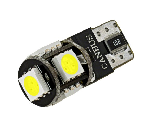 194 CAN Bus LED Bulb - 5 SMD LED Wedge Base Tower