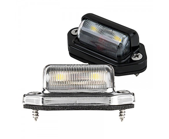 2 SMD LED License Plate Light: Available In Chrome or Black
