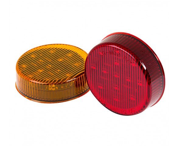 M4 series 2.5in Round LED Marker Lamp: Available In Red & Amber