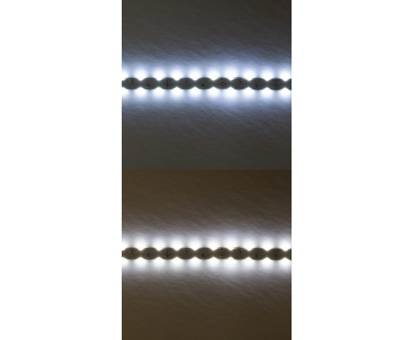 Dual Row LED Strip Lights with LC2 Connector - 12V LED Tape Light - Side Emitting - 157 Lumens/ft.: Cool White (Top) Natural White (Bottom)