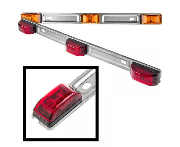SSMBPC series 3 Lamp Truck/Trailer ID Light Bar: Available In Red & Amber