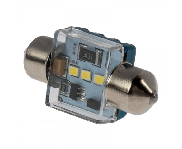 DE3022 CAN Bus LED Bulb - 3 SMD LED Festoon Bulb - 31mm