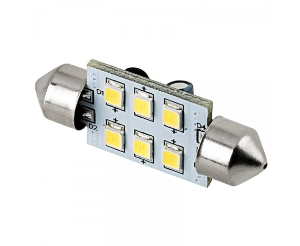 3710 LED Bulb - 6 SMD LED Festoon - 38mm