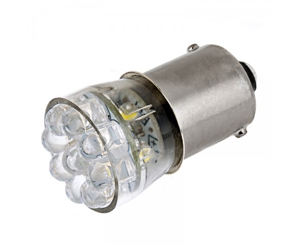 67 LED Bulb - 15 LED Forward Firing Cluster - BA15S Retrofit