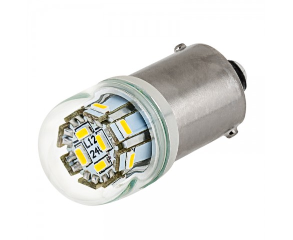 67 LED Bulb - 12 LED Forward Firing Cluster - BA15S Retrofit