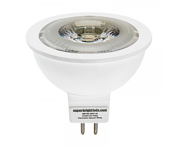 7 Watt MR16 Dimmable LED Bulb - Multifaceted Lens with High Power COB LED