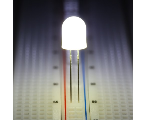 8mm White LED (360 degree)