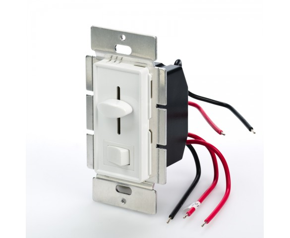 SLVDx-60W-3W - LED 3 Way Switch and Dimmer for Standard Wall Switch Box in White