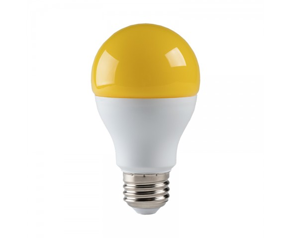 A19 Yellow LED Bug Light Bulb - 95 Watt Equivalent - 940 Lumens
