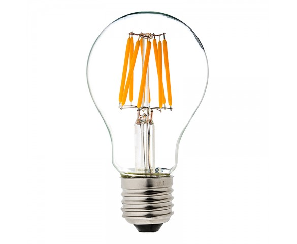 LED Vintage Light Bulb - A19 LED Globe Bulb w/ Filament LED - 6W