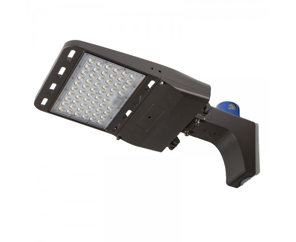 185W LED Parking Lot/Shoebox Area Light w/ Optional Photocell - 29,500 Lumens - 750W Metal Halide Equivalent - 5000K - Fixed Arm Mount