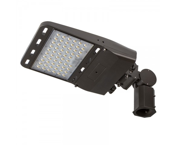 100W LED Parking Lot/Shoebox Area Light - 14,000 Lumens - 250W Metal Halide Equivalent - 5000K - Knuckle Slipfitter Mount