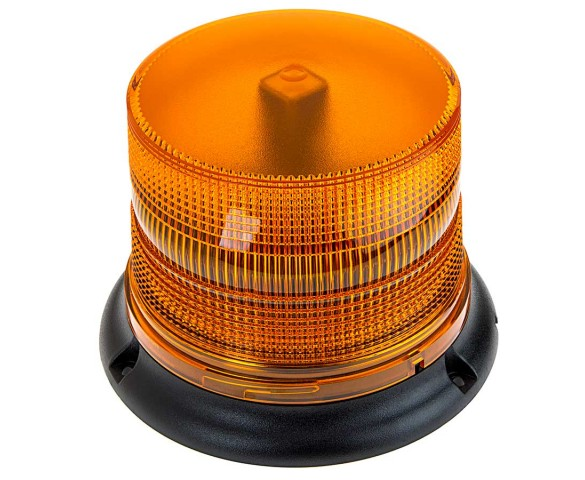 "4-3/4"" Amber LED Multi Mode Strobe Light Beacon with 8 LEDs"