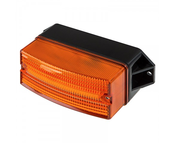 "4-3/4"" Amber LED Strobe Light Beacon with 8 LEDs"