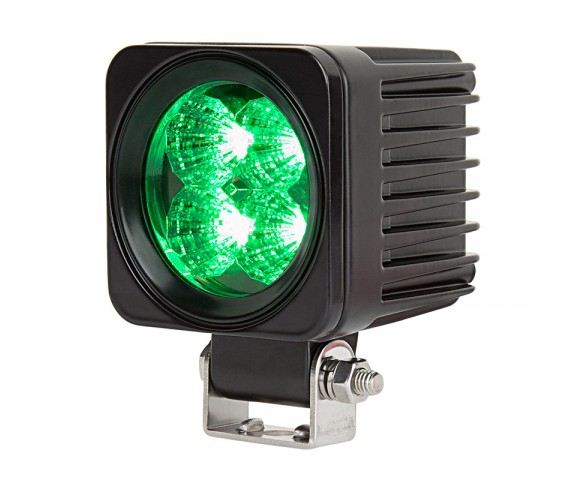"2-1/2"" LED Mini Auxiliary Hunting and Fishing Light - Green - 12W - 384 Lumens"