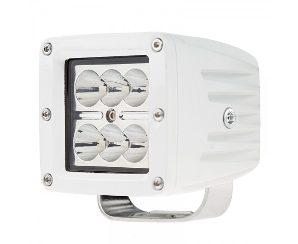 "LED Boat Light - 3"" Square Spot or Spreader Light - 18W"