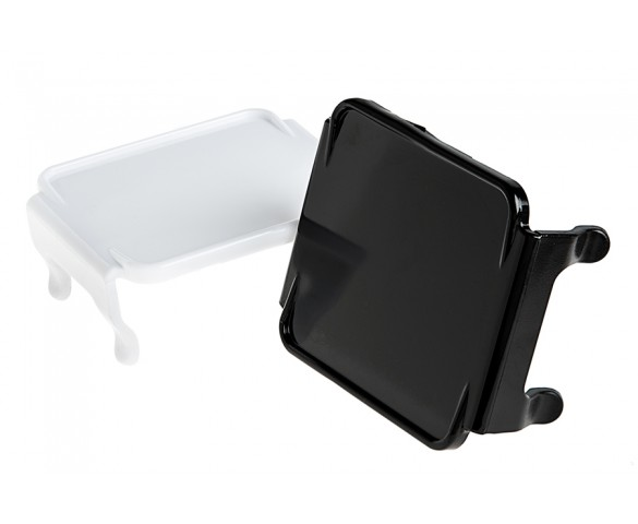 "3"" Square LED Mini Auxiliary Work Light Lens Cover - Opaque: Available In Black & White"