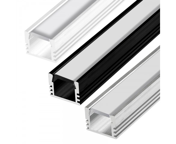 Deep Aluminum LED Strip Channel - Surface Mount LED Extrusion - KLUS PDS-4-ALU Series